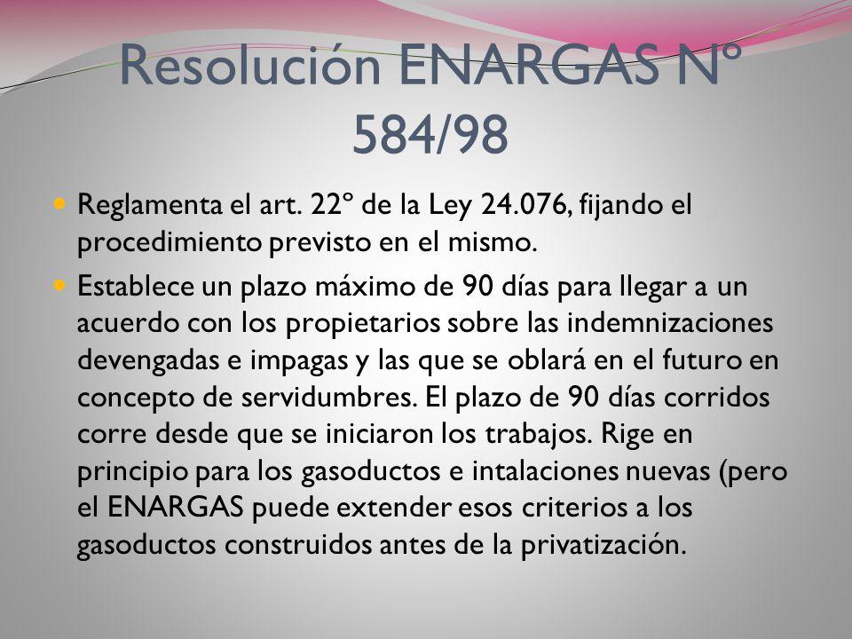 Resolución ENARGAS Nº 584/98