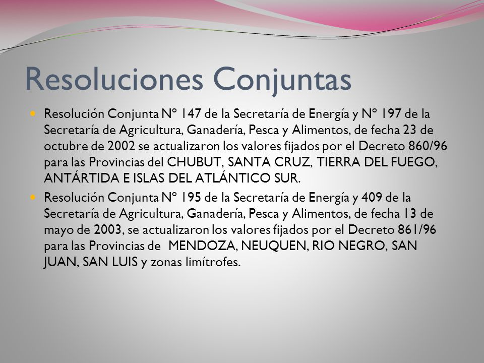 Resoluciones Conjuntas