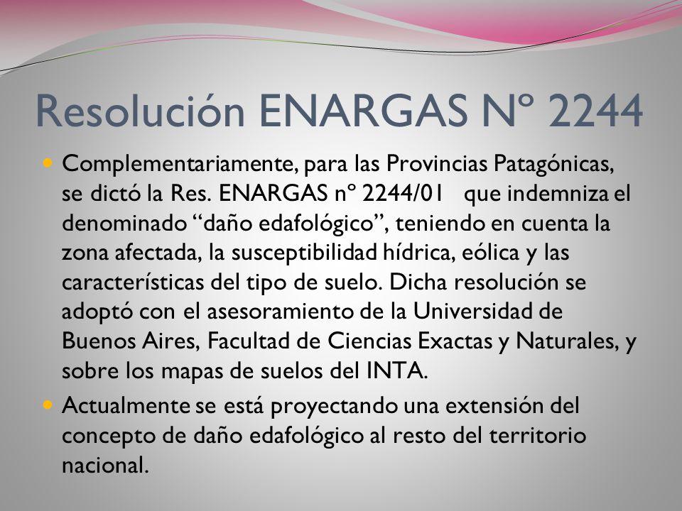 Resolución ENARGAS Nº 2244