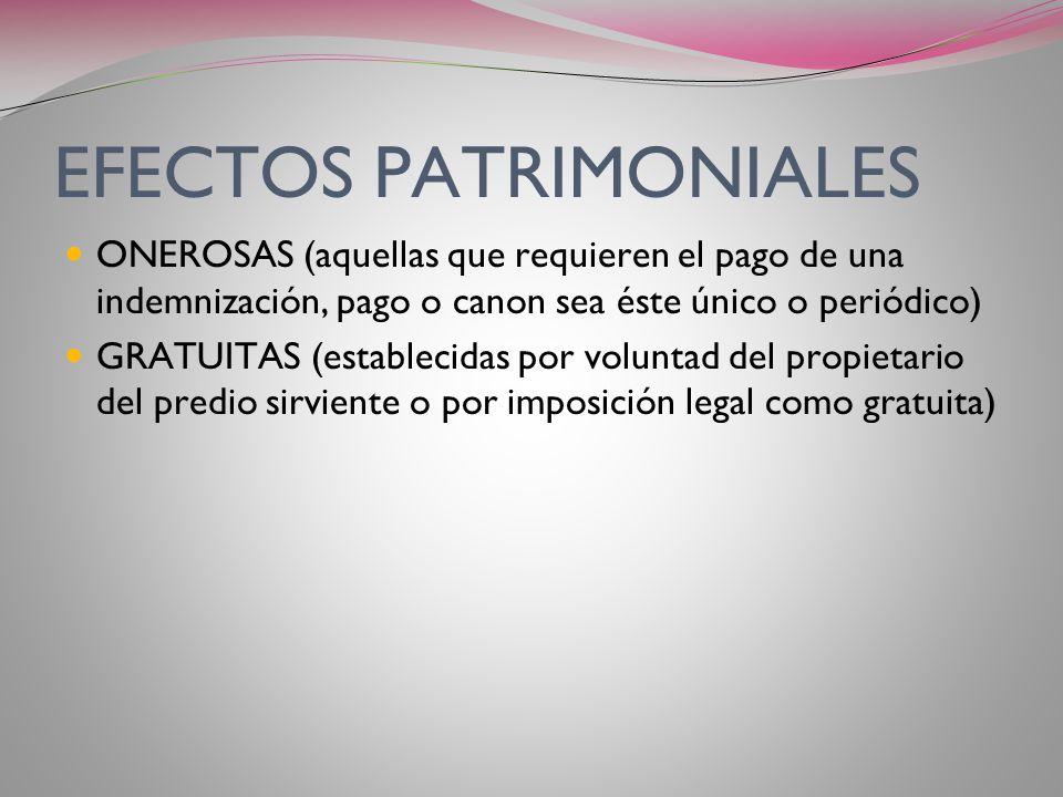 EFECTOS PATRIMONIALES