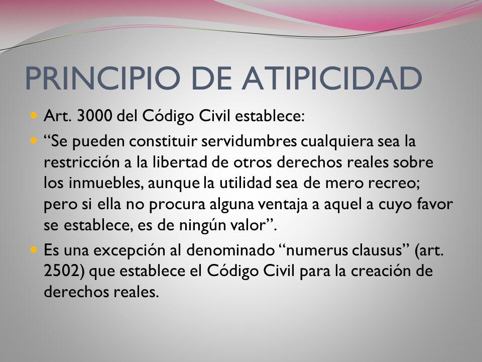 PRINCIPIO DE ATIPICIDAD