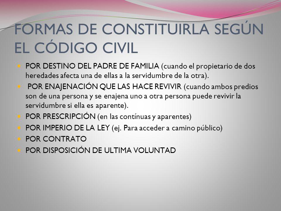 FORMAS DE CONSTITUIRLA SEGÚN EL CÓDIGO CIVIL