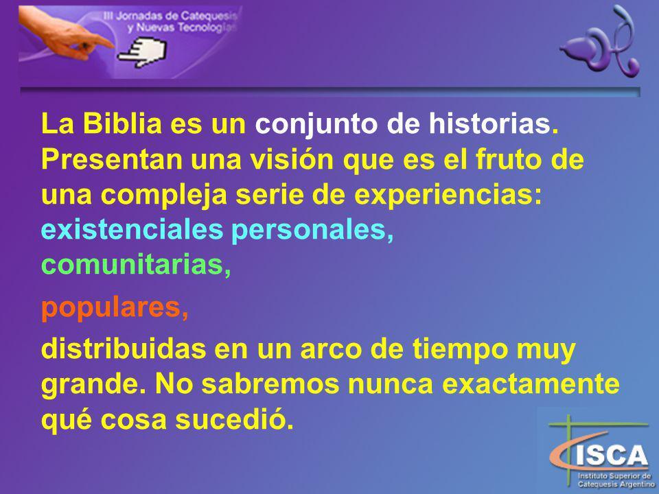 La Biblia es un conjunto de historias