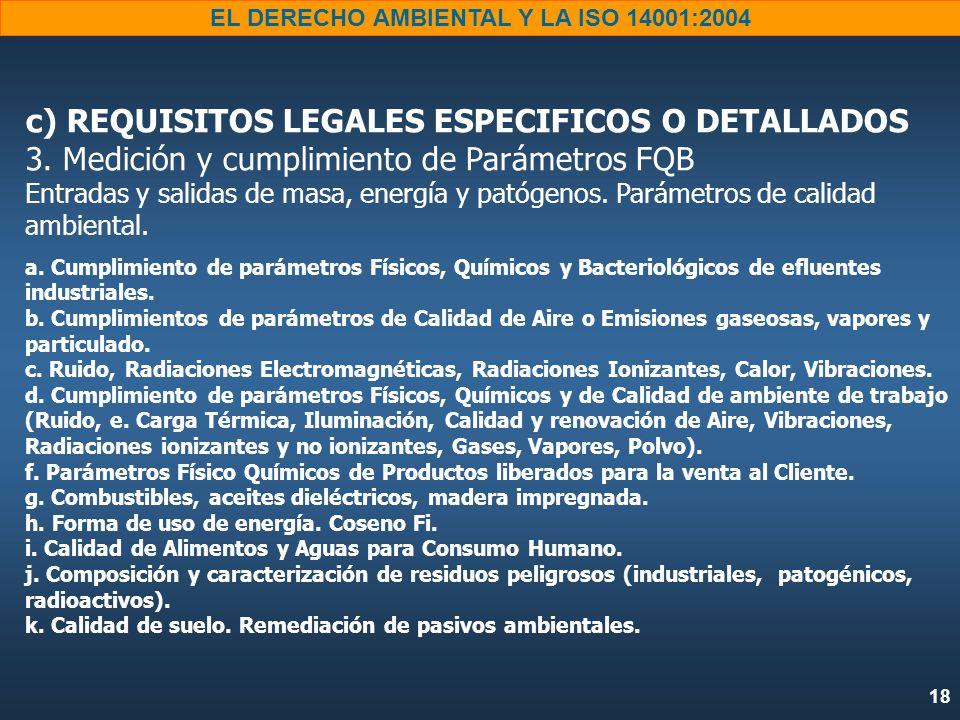 c) REQUISITOS LEGALES ESPECIFICOS O DETALLADOS 3