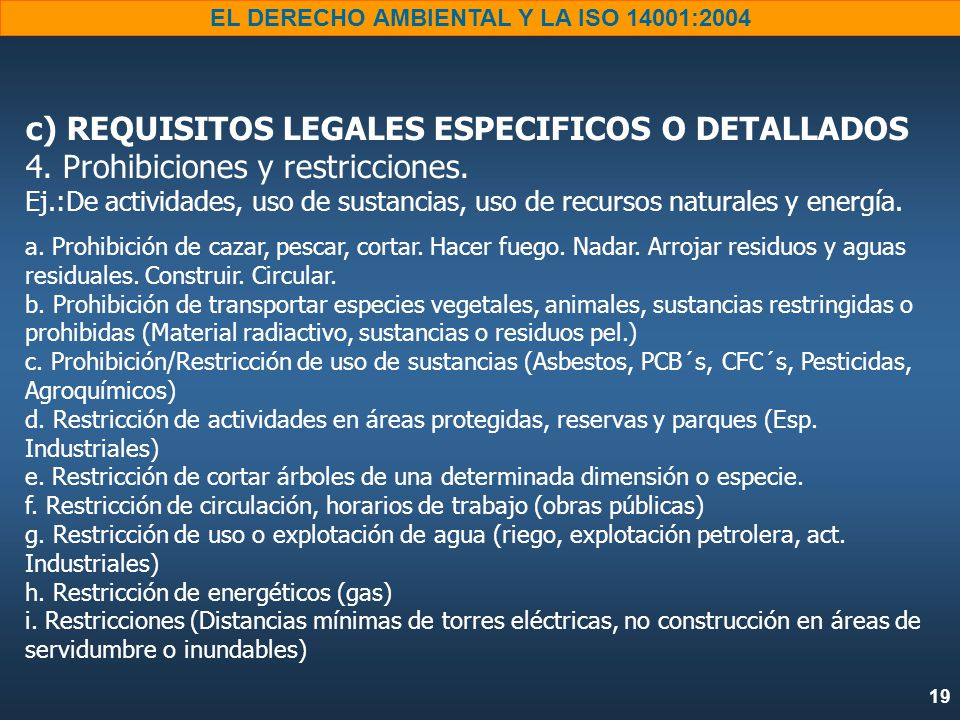 c) REQUISITOS LEGALES ESPECIFICOS O DETALLADOS 4