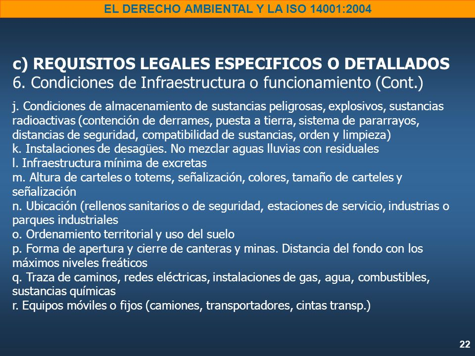 c) REQUISITOS LEGALES ESPECIFICOS O DETALLADOS 6