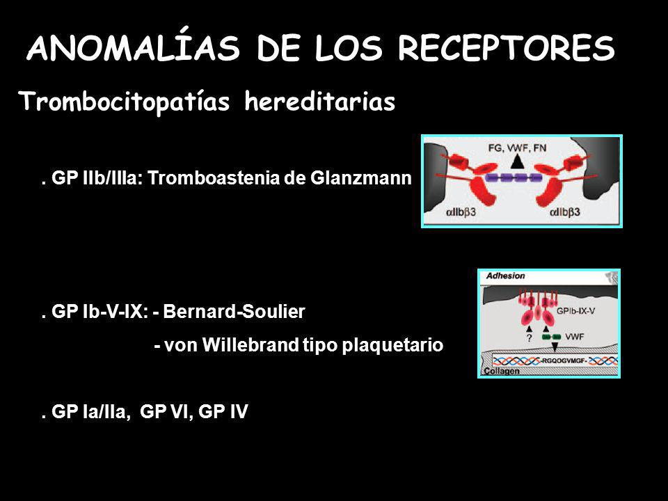 Anomalías de los receptores