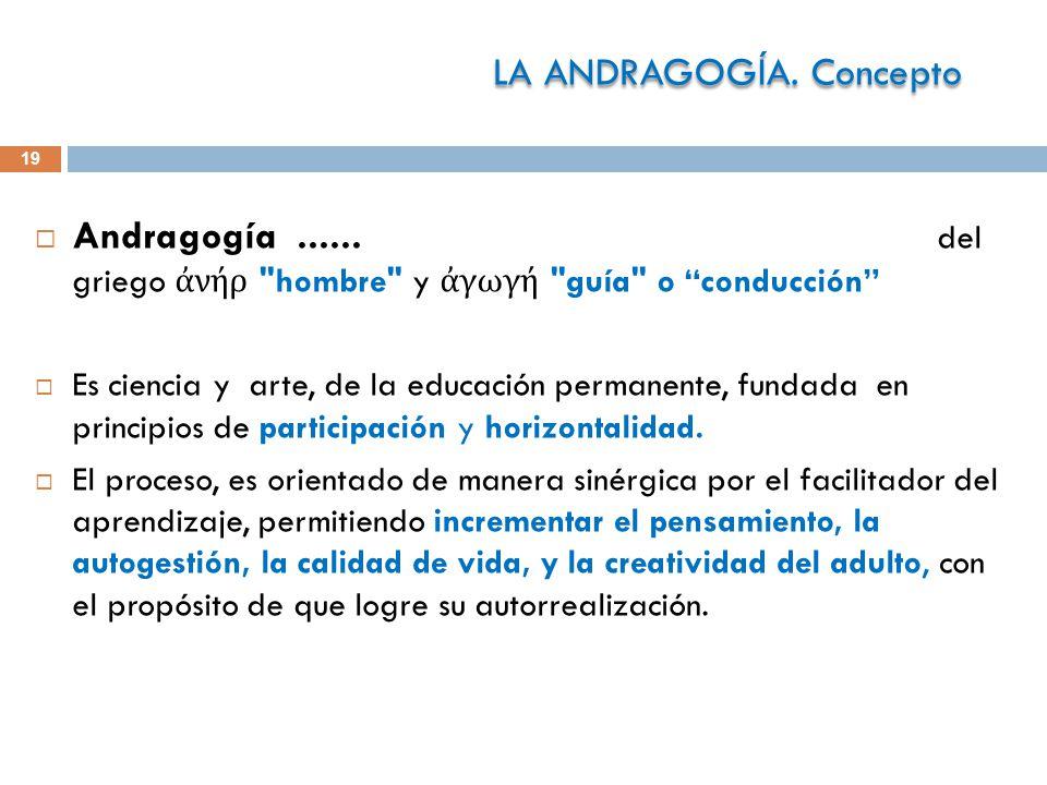 LA ANDRAGOGÍA. Concepto