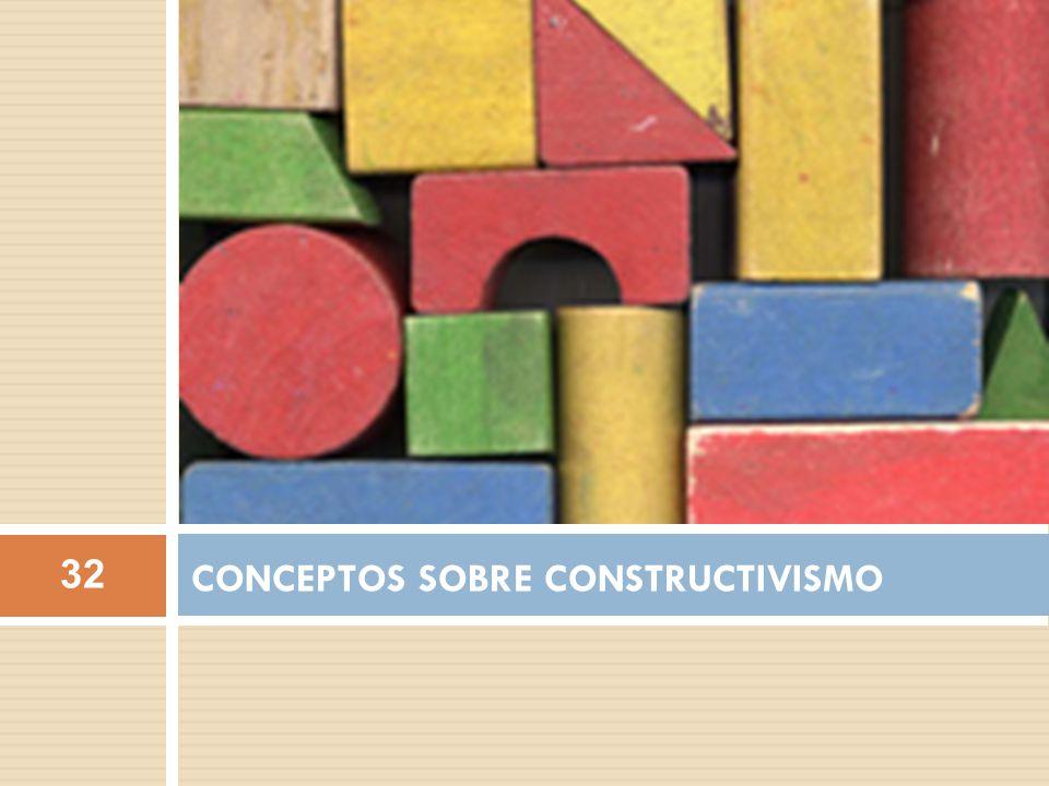 CONCEPTOS SOBRE CONSTRUCTIVISMO