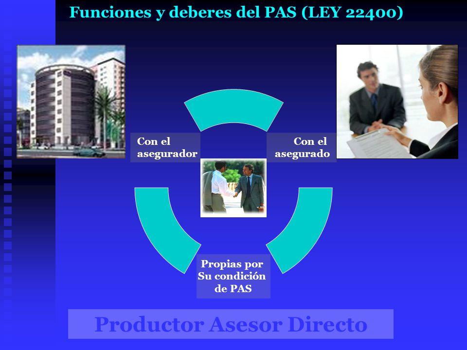 Funciones y deberes del PAS (LEY 22400)