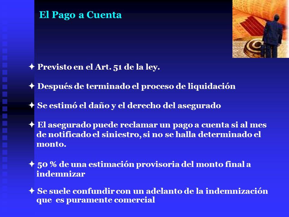 El Pago a Cuenta  Previsto en el Art. 51 de la ley.