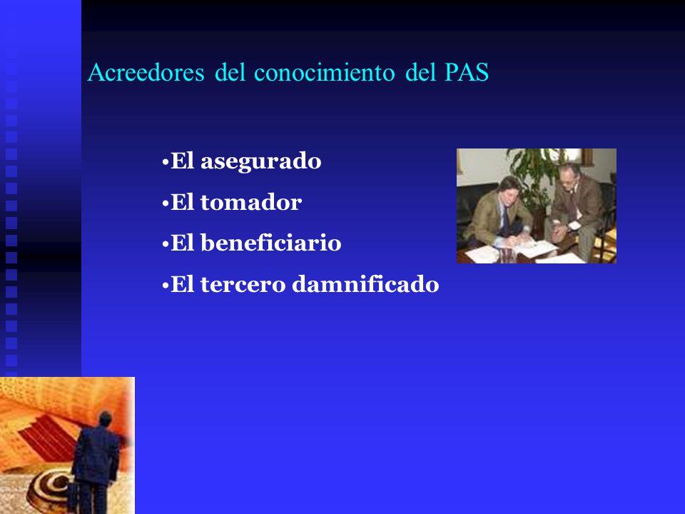 Acreedores del conocimiento del PAS