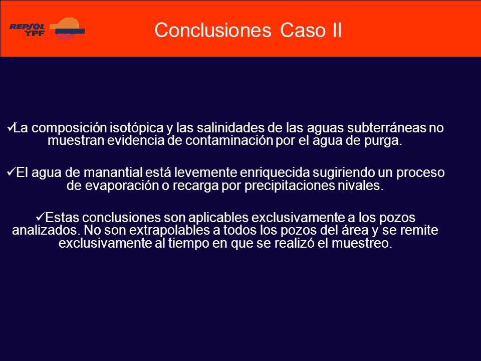 Conclusiones Caso II