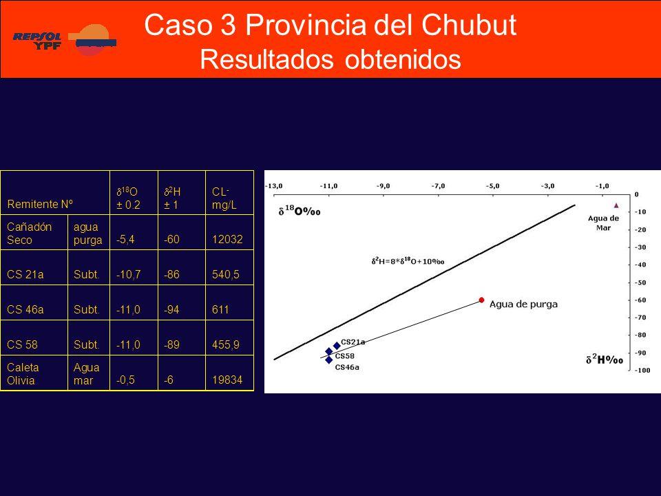 Caso 3 Provincia del Chubut Resultados obtenidos