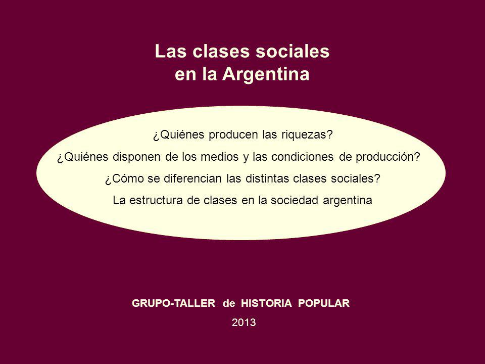 Las clases sociales en la Argentina