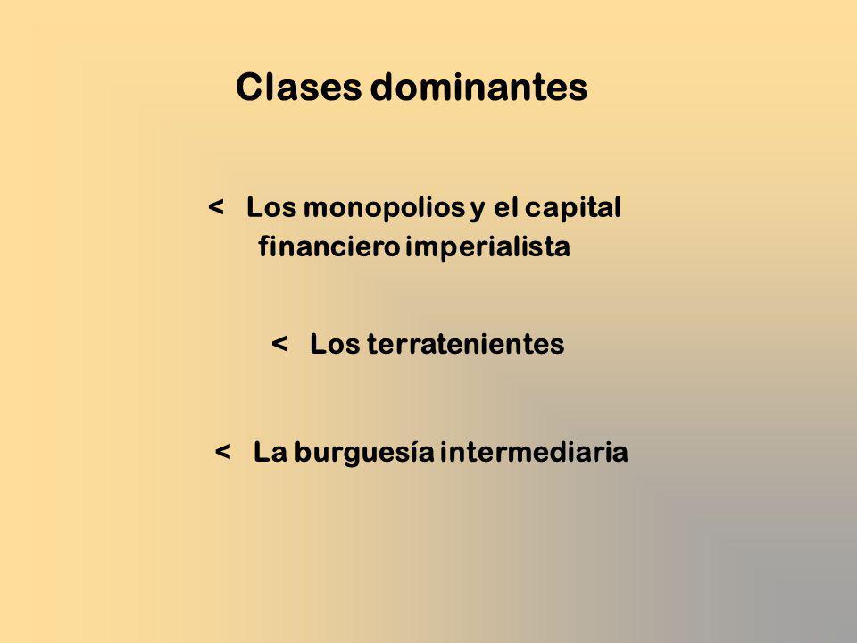 Clases dominantes < Los monopolios y el capital financiero imperialista. < Los terratenientes.
