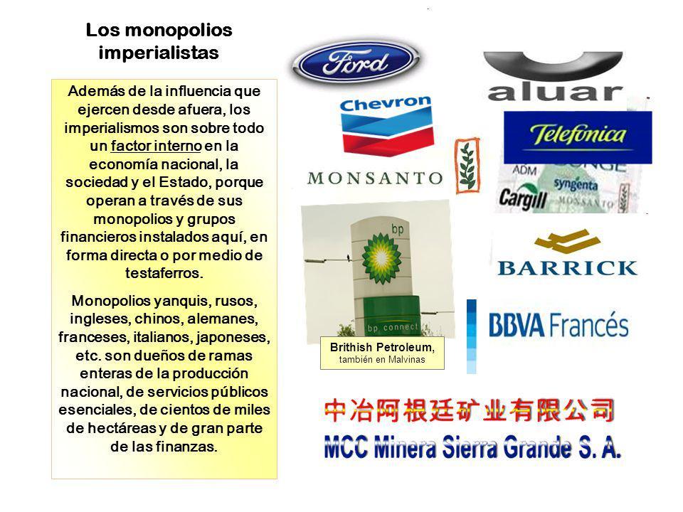 Los monopolios imperialistas