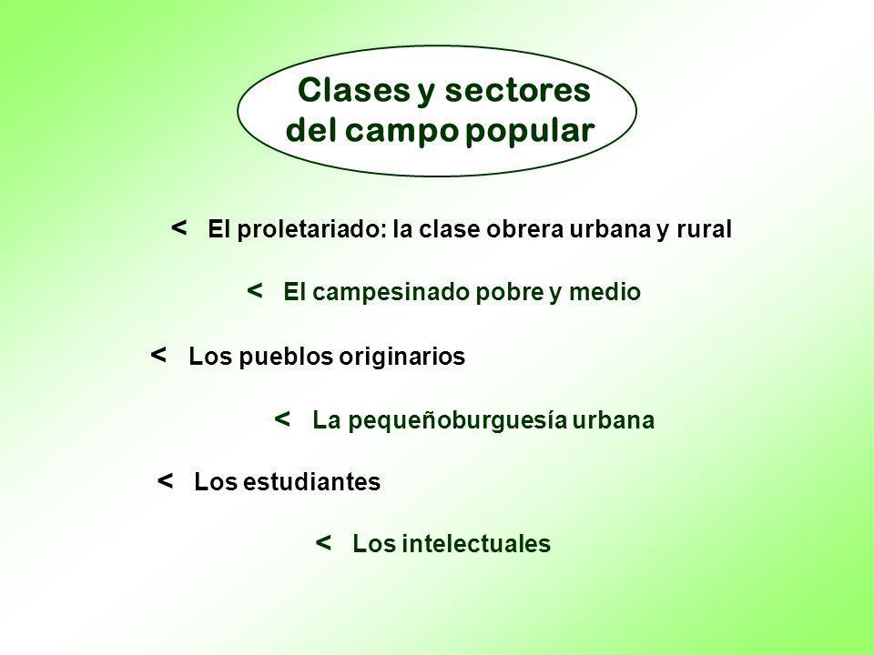 Clases y sectores del campo popular