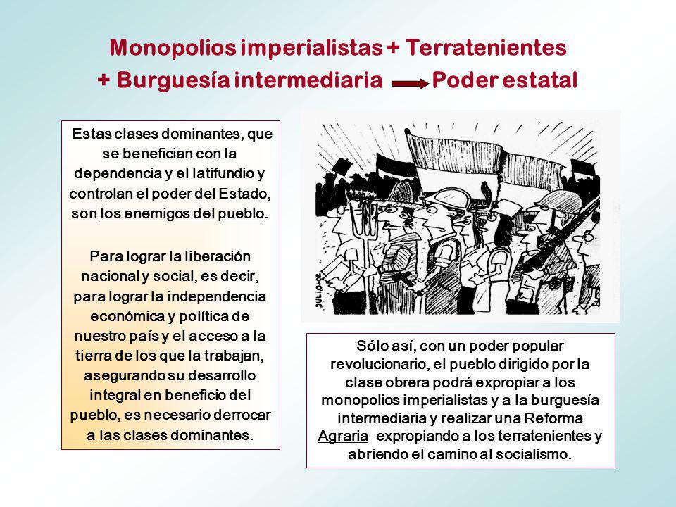 Monopolios imperialistas + Terratenientes