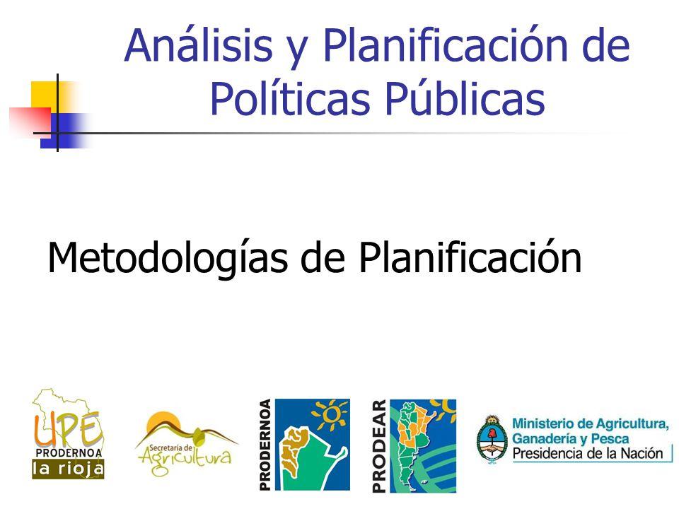 Análisis y Planificación de Políticas Públicas