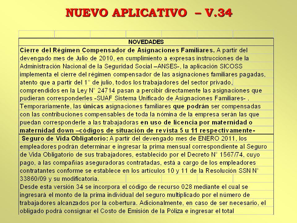 NUEVO APLICATIVO – V.34