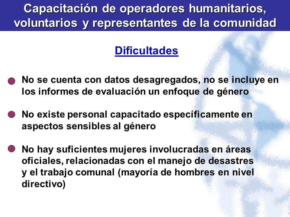 Capacitación de operadores humanitarios,