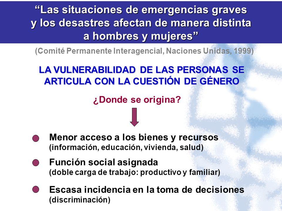 Las situaciones de emergencias graves