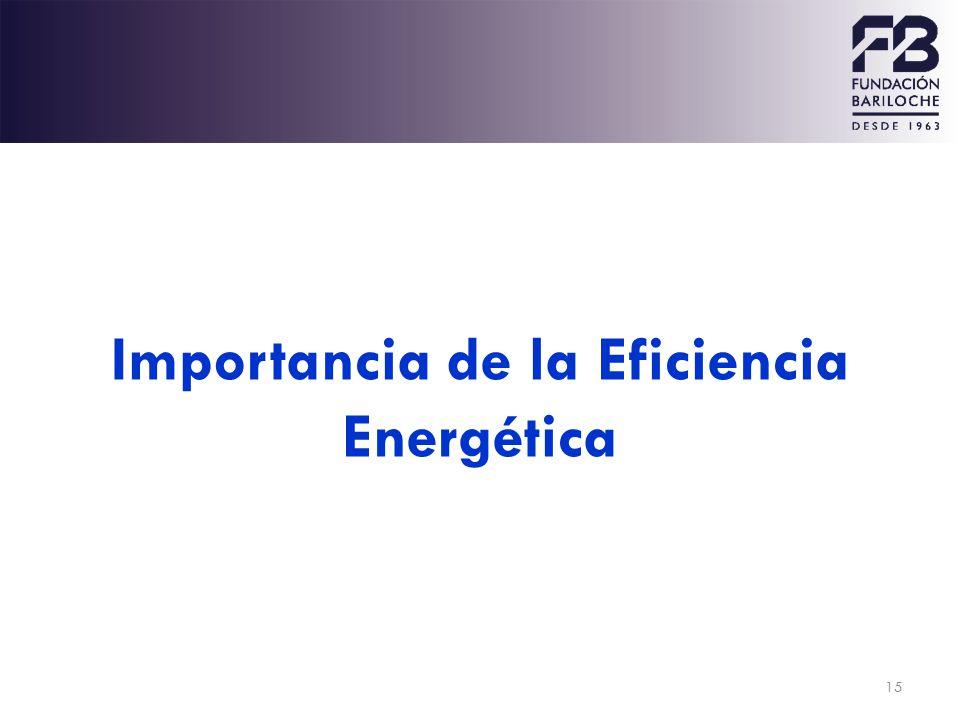 Importancia de la Eficiencia Energética