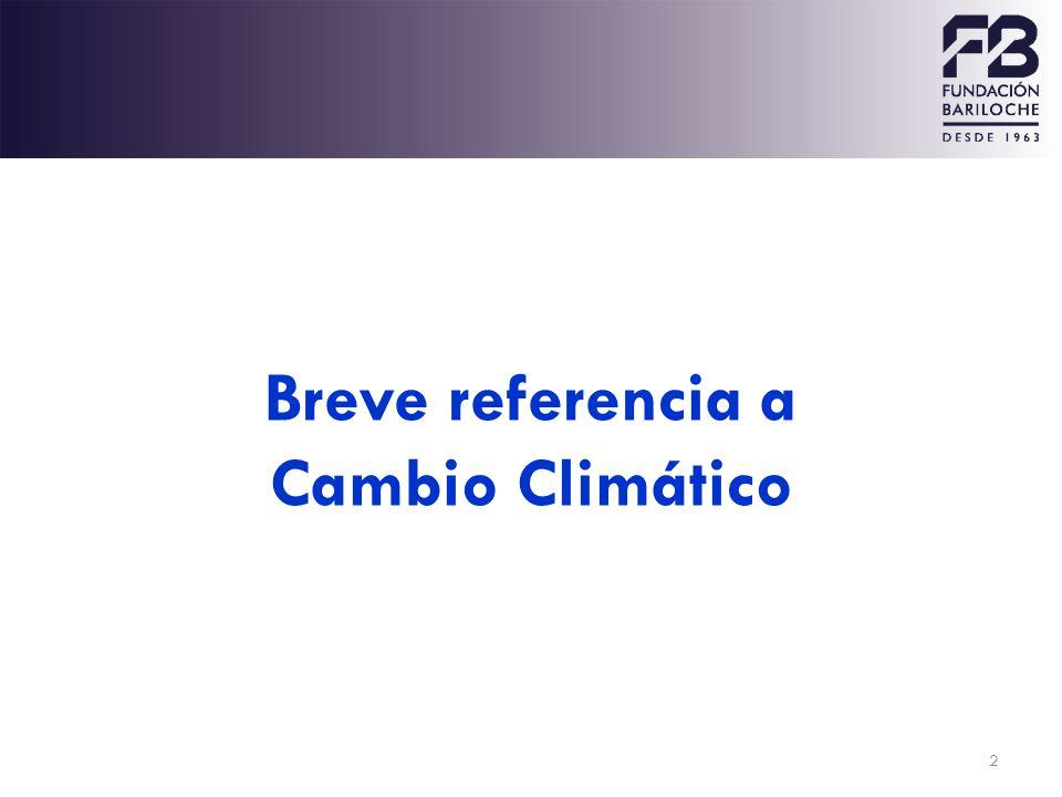 Breve referencia a Cambio Climático
