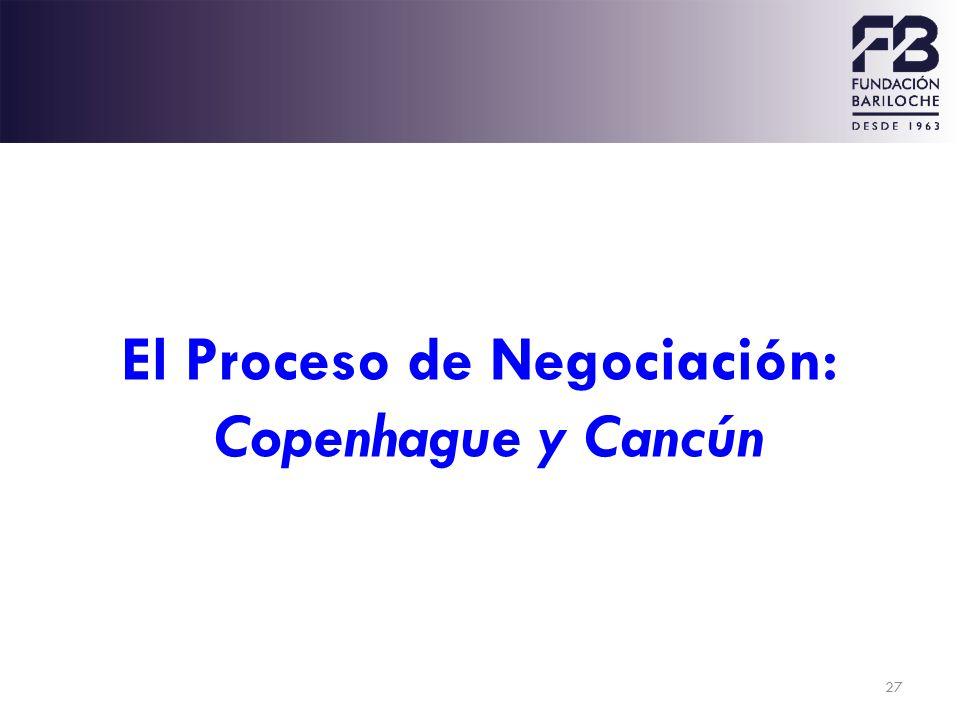 El Proceso de Negociación: Copenhague y Cancún