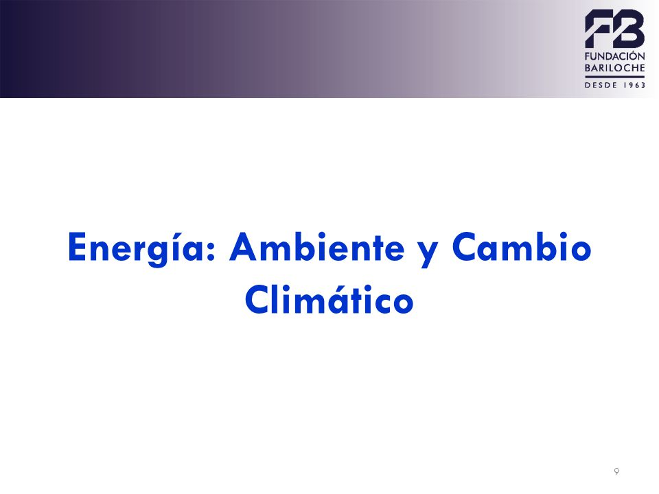 Energía: Ambiente y Cambio Climático