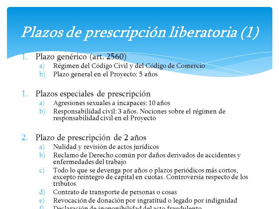 Plazos de prescripción liberatoria (1)