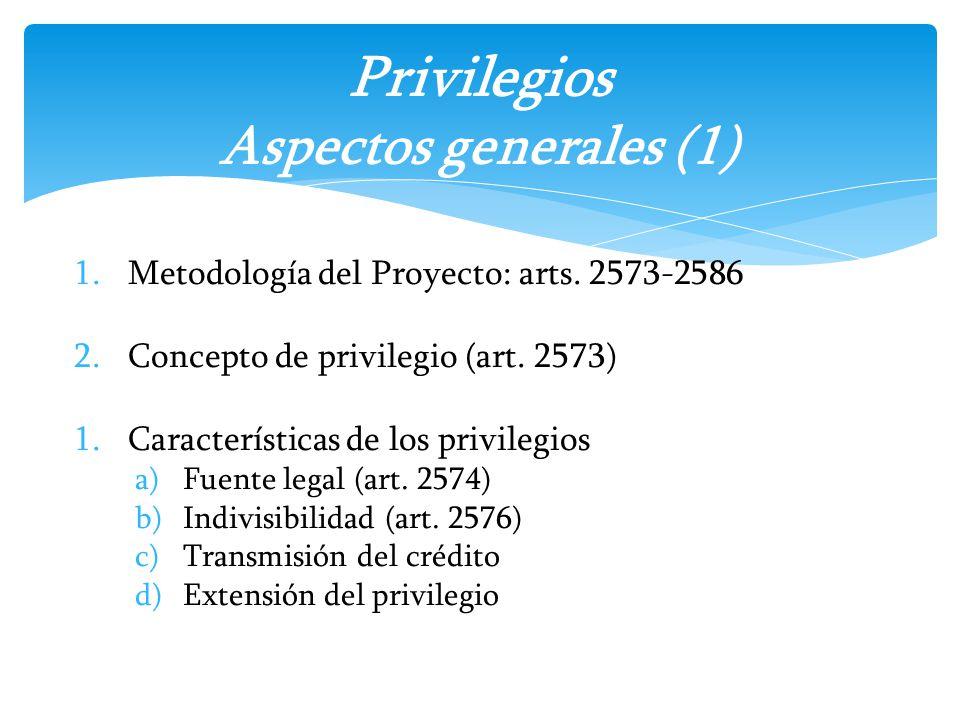 Privilegios Aspectos generales (1)