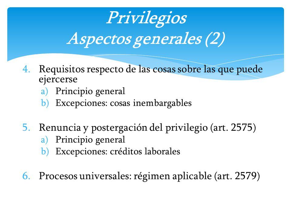 Privilegios Aspectos generales (2)