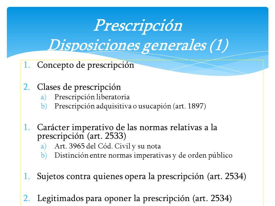 Prescripción Disposiciones generales (1)