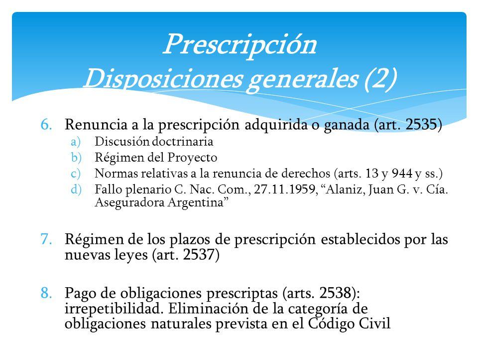 Prescripción Disposiciones generales (2)