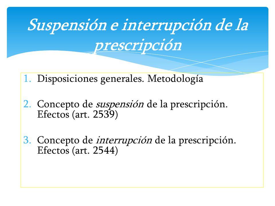 Suspensión e interrupción de la prescripción