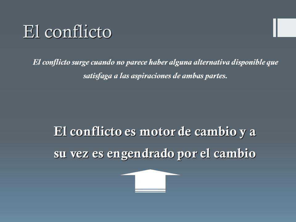 El conflicto es motor de cambio y a su vez es engendrado por el cambio