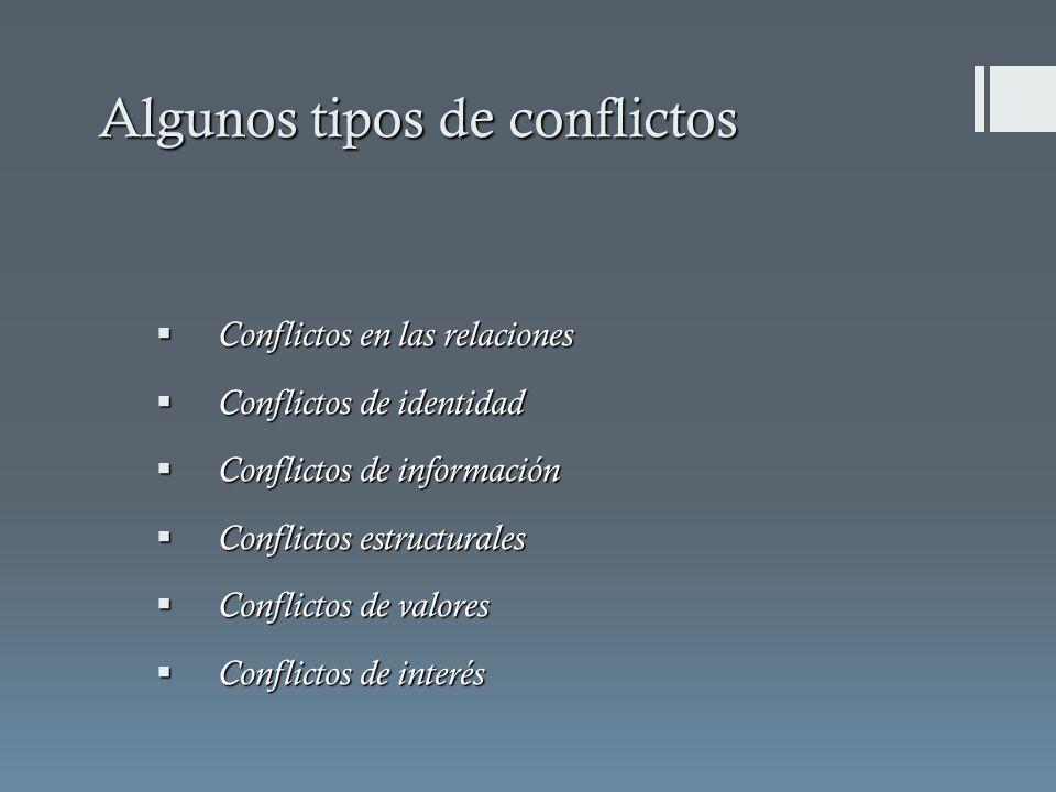 Algunos tipos de conflictos