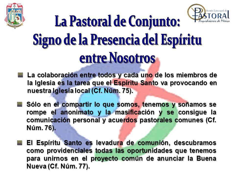 La Pastoral de Conjunto: Signo de la Presencia del Espíritu