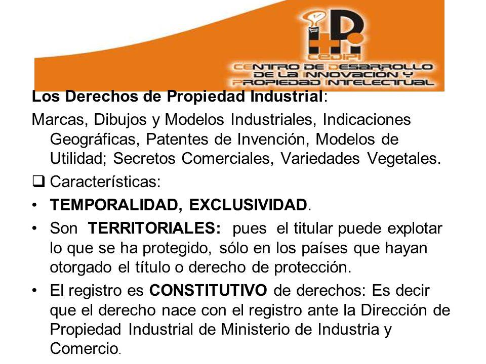 Los Derechos de Propiedad Industrial: