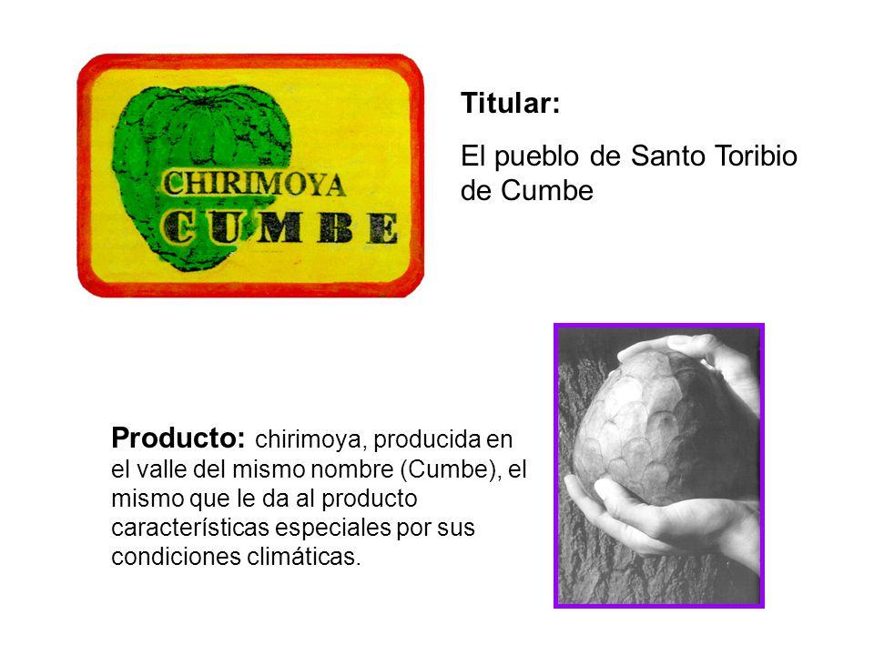 Titular: El pueblo de Santo Toribio de Cumbe.