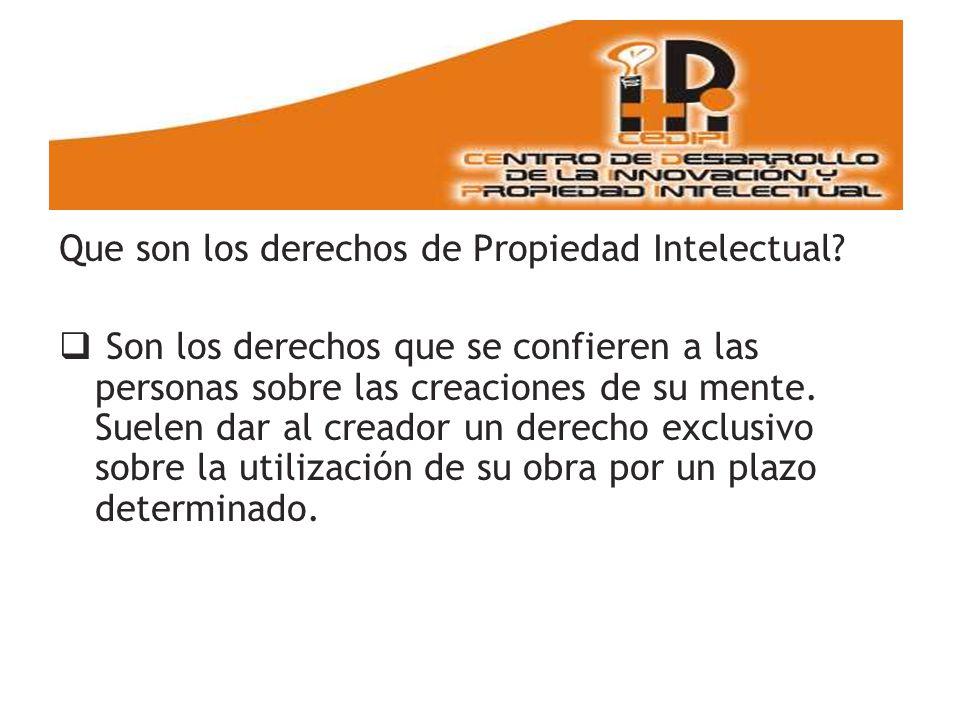 Que son los derechos de Propiedad Intelectual