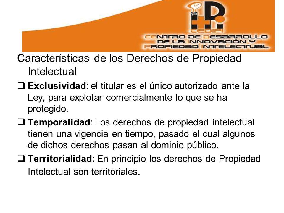 Características de los Derechos de Propiedad Intelectual