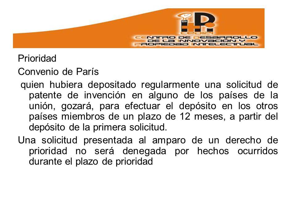 Prioridad Convenio de París.