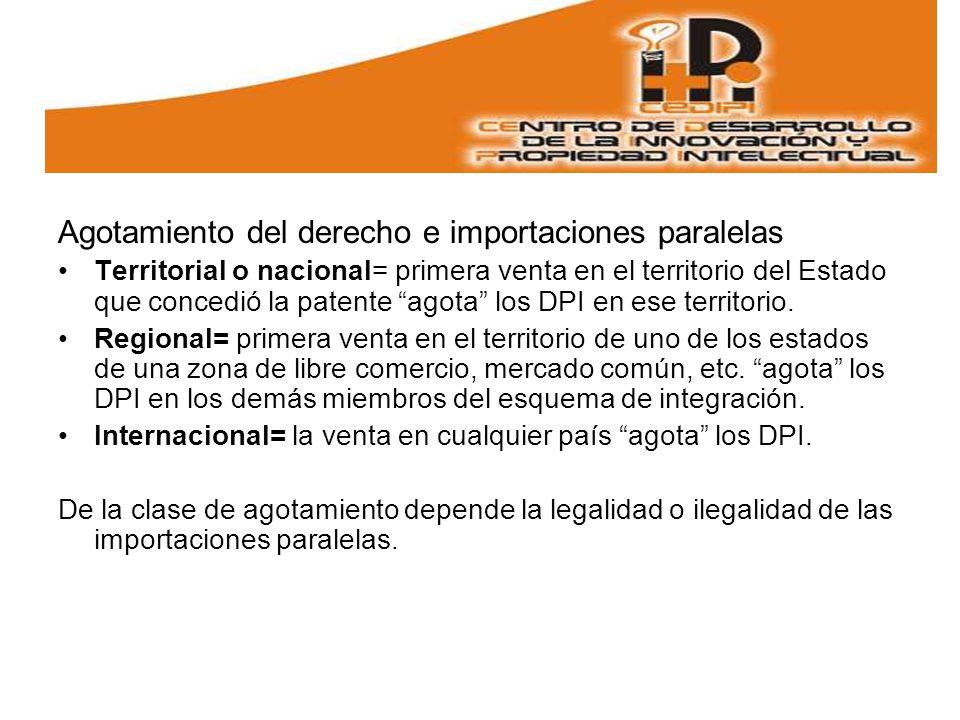 Agotamiento del derecho e importaciones paralelas
