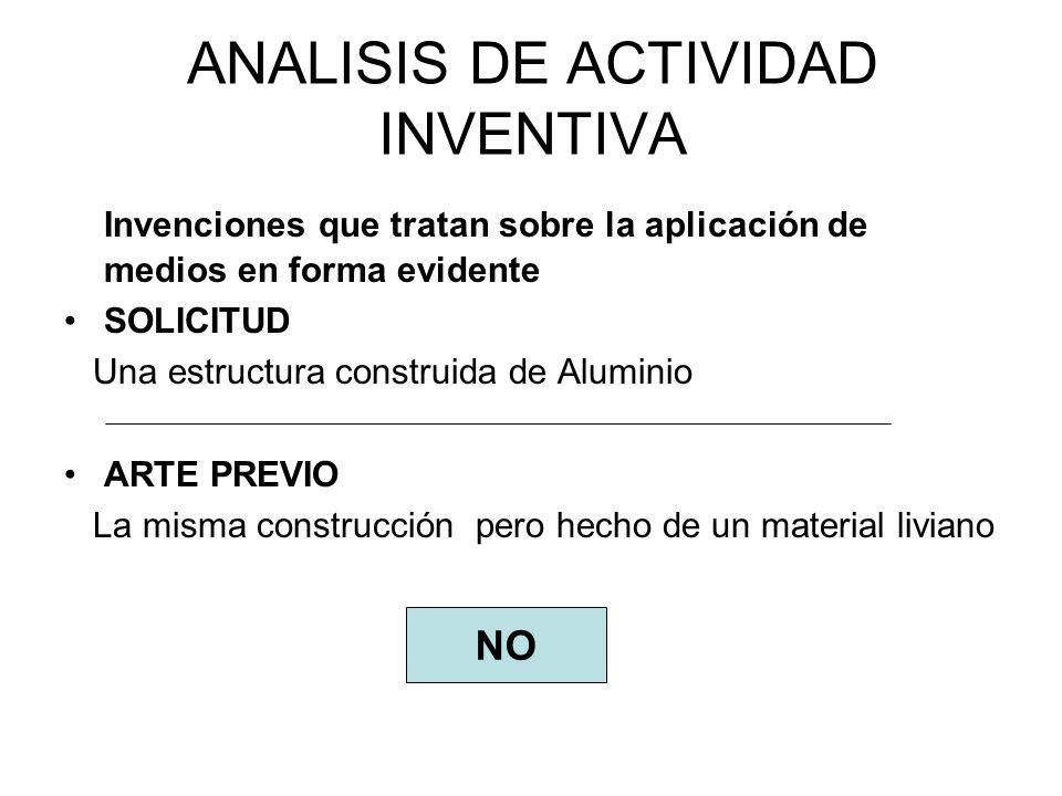 ANALISIS DE ACTIVIDAD INVENTIVA