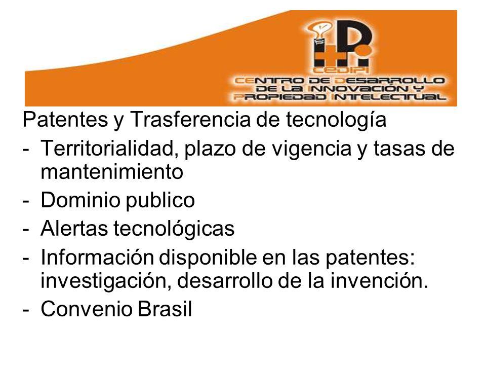 Patentes y Trasferencia de tecnología