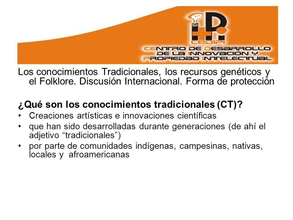 ¿Qué son los conocimientos tradicionales (CT)