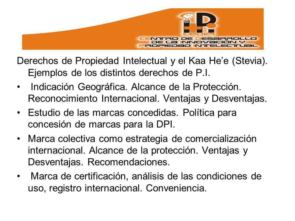Derechos de Propiedad Intelectual y el Kaa He'e (Stevia)